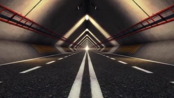 Absztrakt sebesség autópályán közúti alagútja