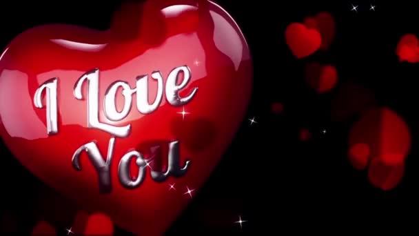 Pozadí animace pro valentinky den a svatební srdce