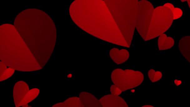 Pozadí animace pro valentinky den a svatební srdce.