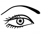 Profilovaný kreslení oka