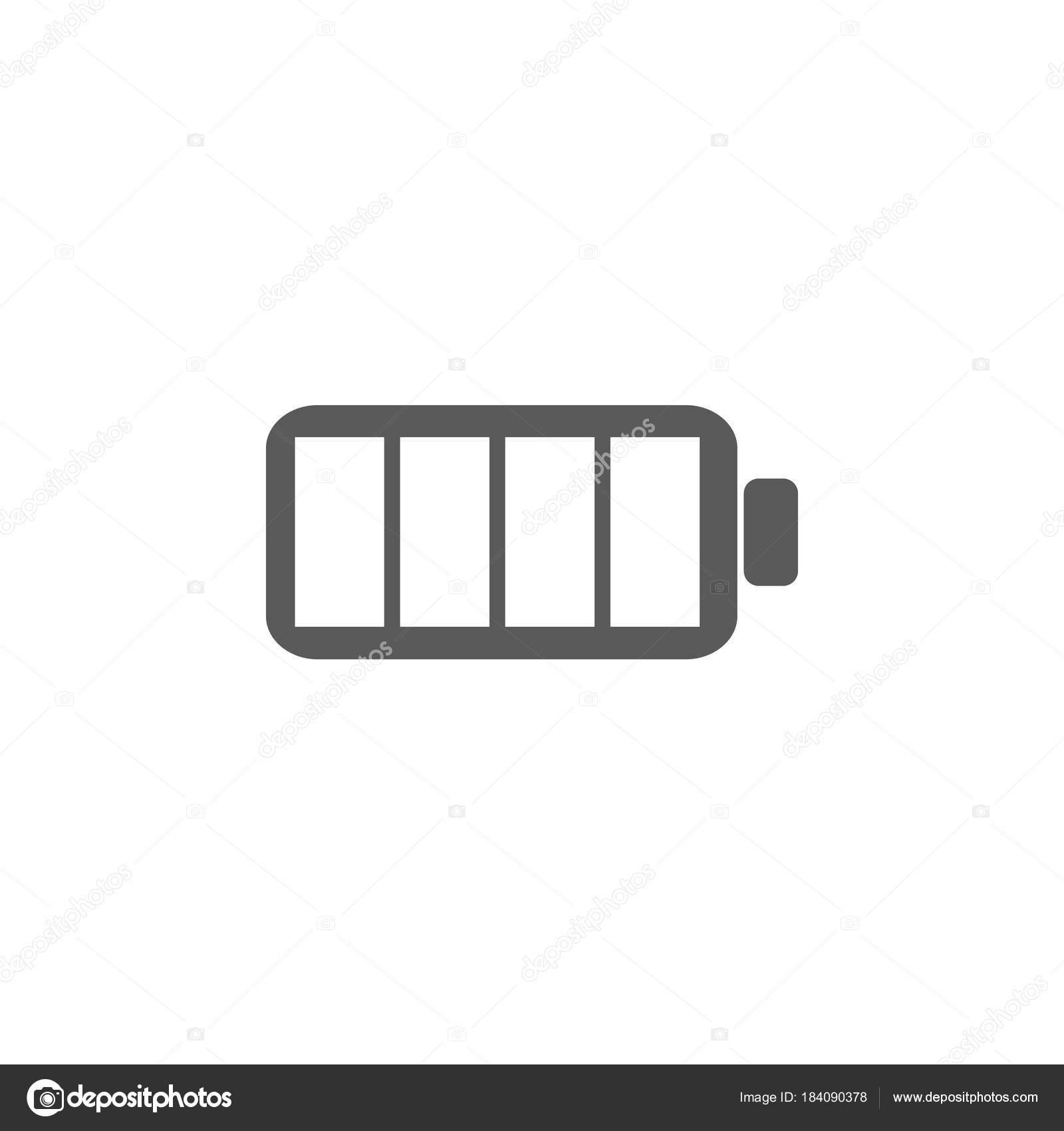 Volle Batterie-Symbol. Batterie-Vektor-Illustration-icons ...