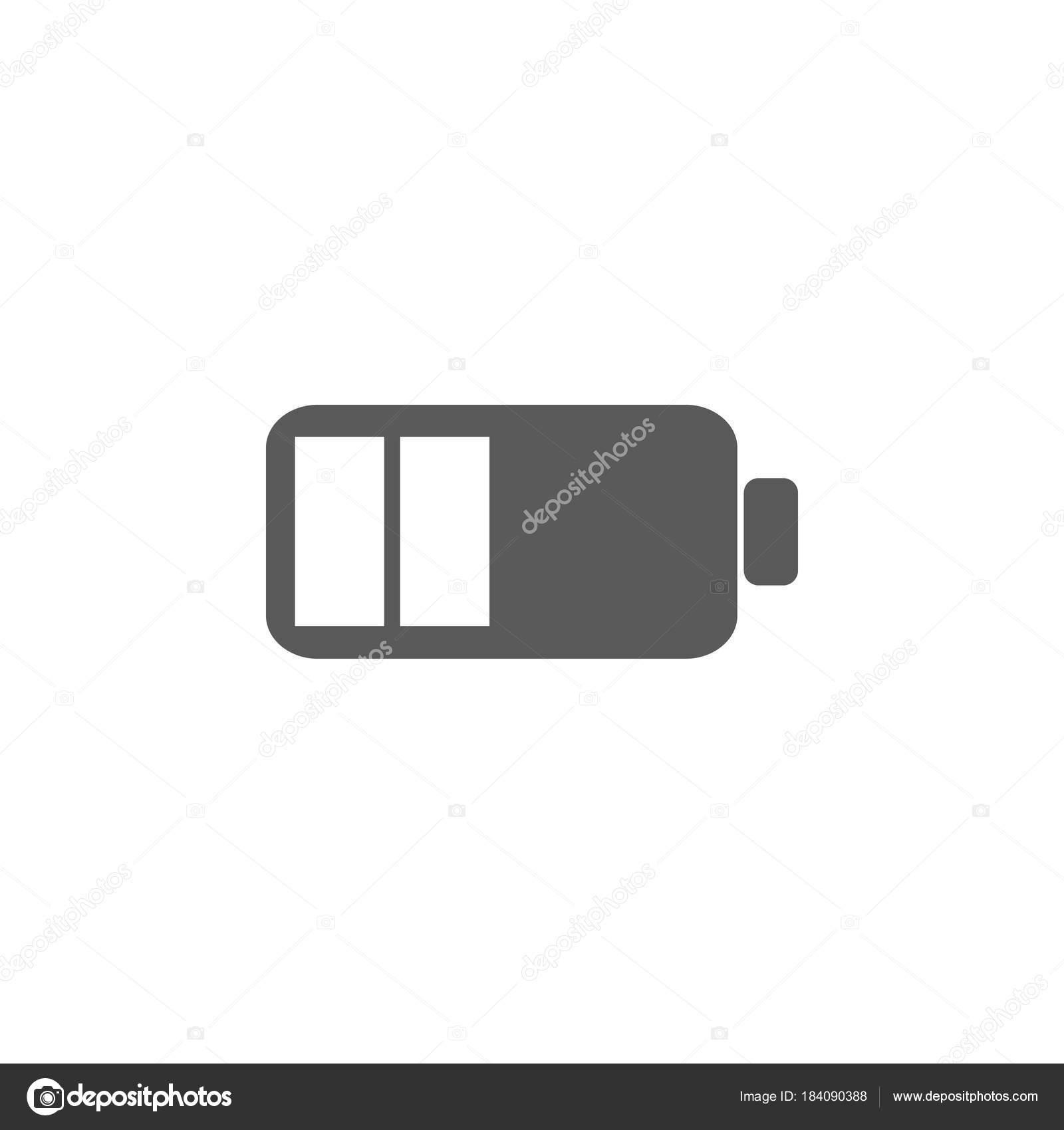 Niedrige Batterie-Symbol. Batterie-Vektor-Illustration-icons ...