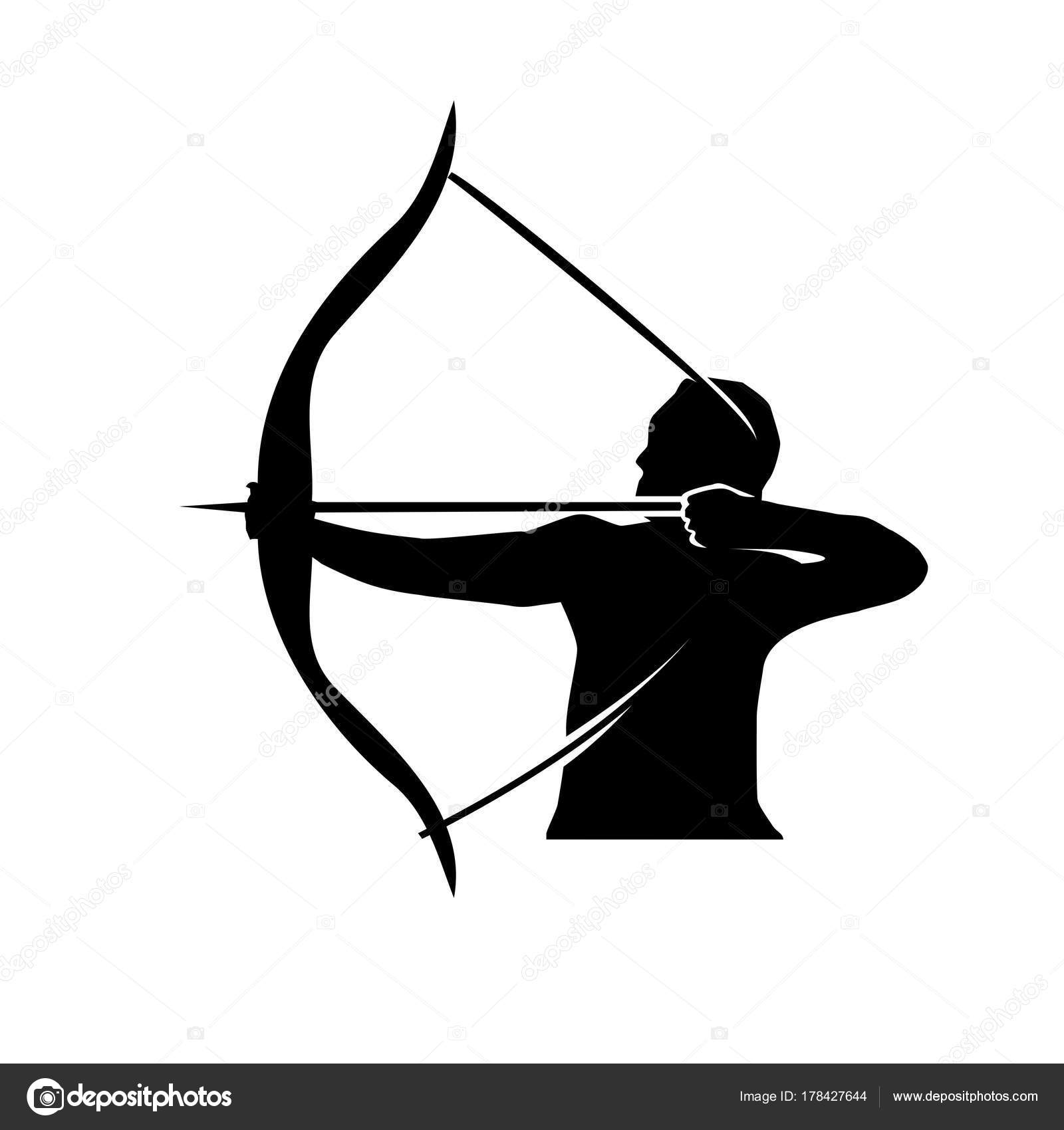arrow Bow silhouette and