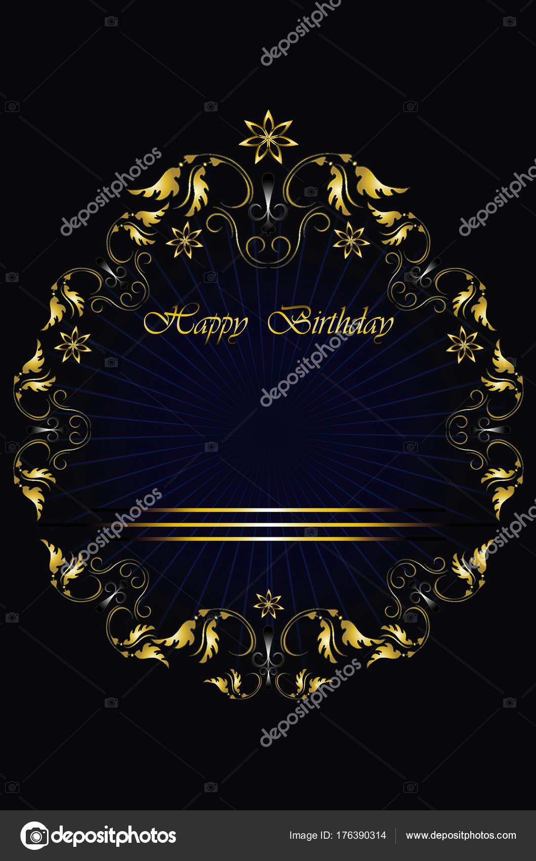 Marco de oro de las hojas con cinta de rayas y estrellas en fondo ...