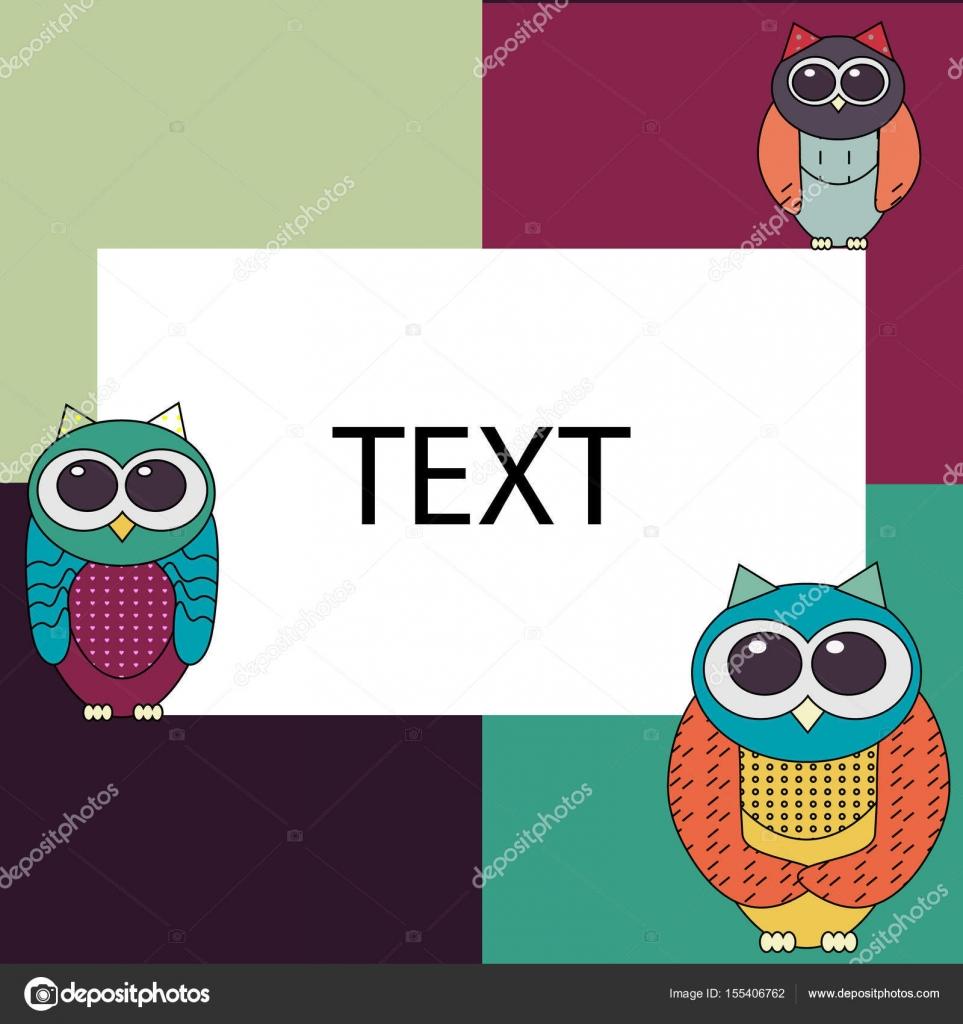 Owl invitation card template stock vector annamaglyak 155406762 owl invitation card template stock vector stopboris Choice Image