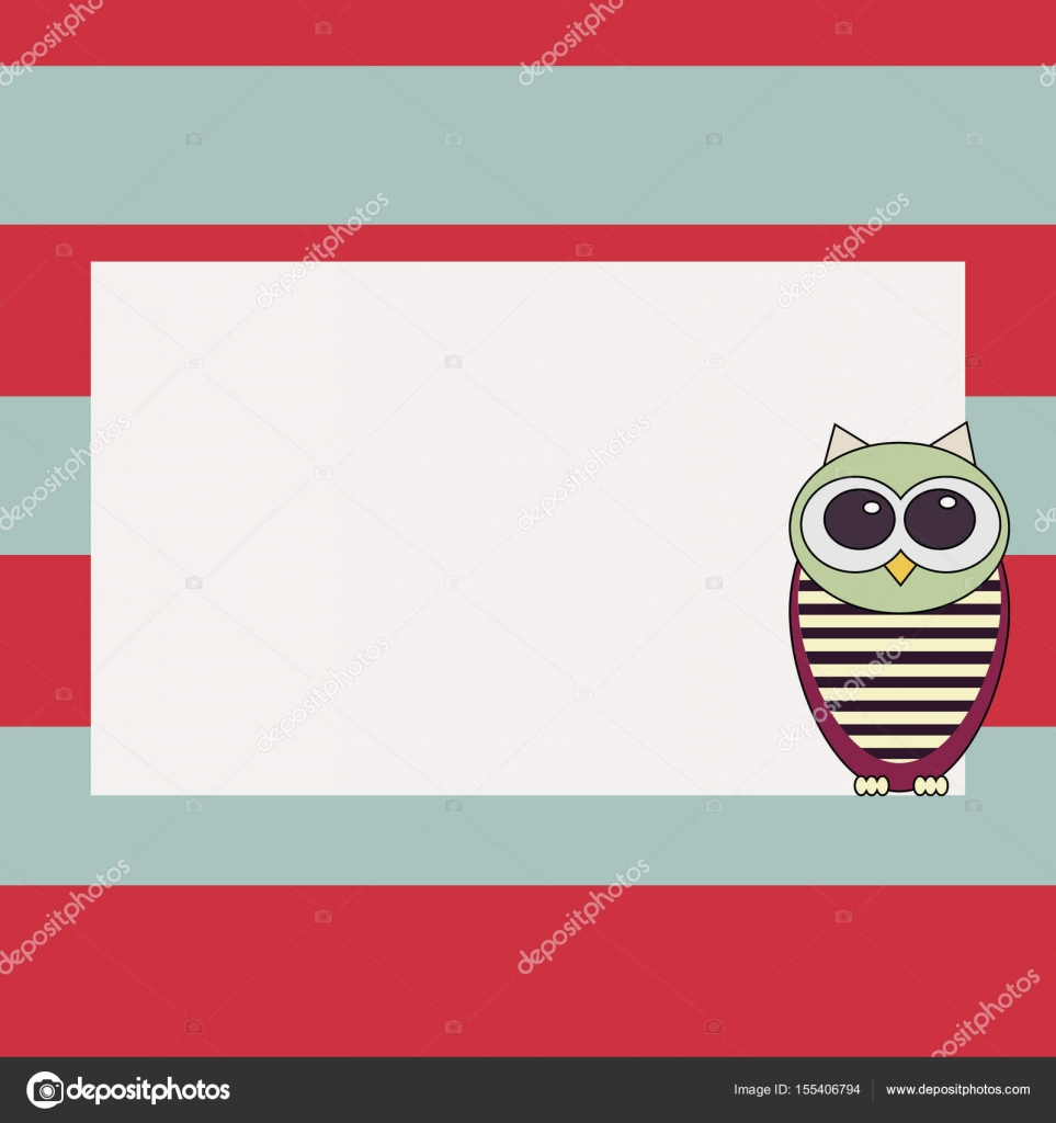 owl invitation card template stock vector annamaglyak 155406794
