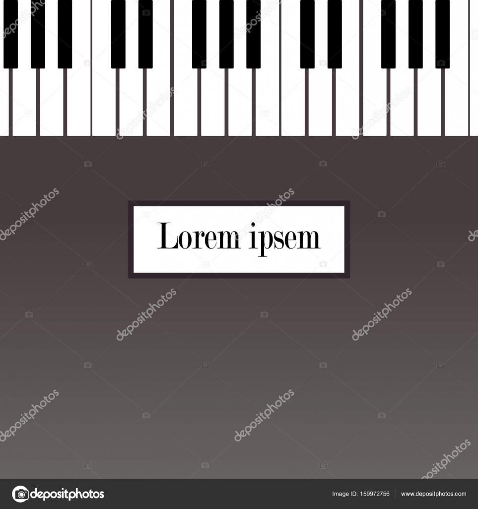 Plantilla de diseño de cartel, folleto o invitación recital de piano ...
