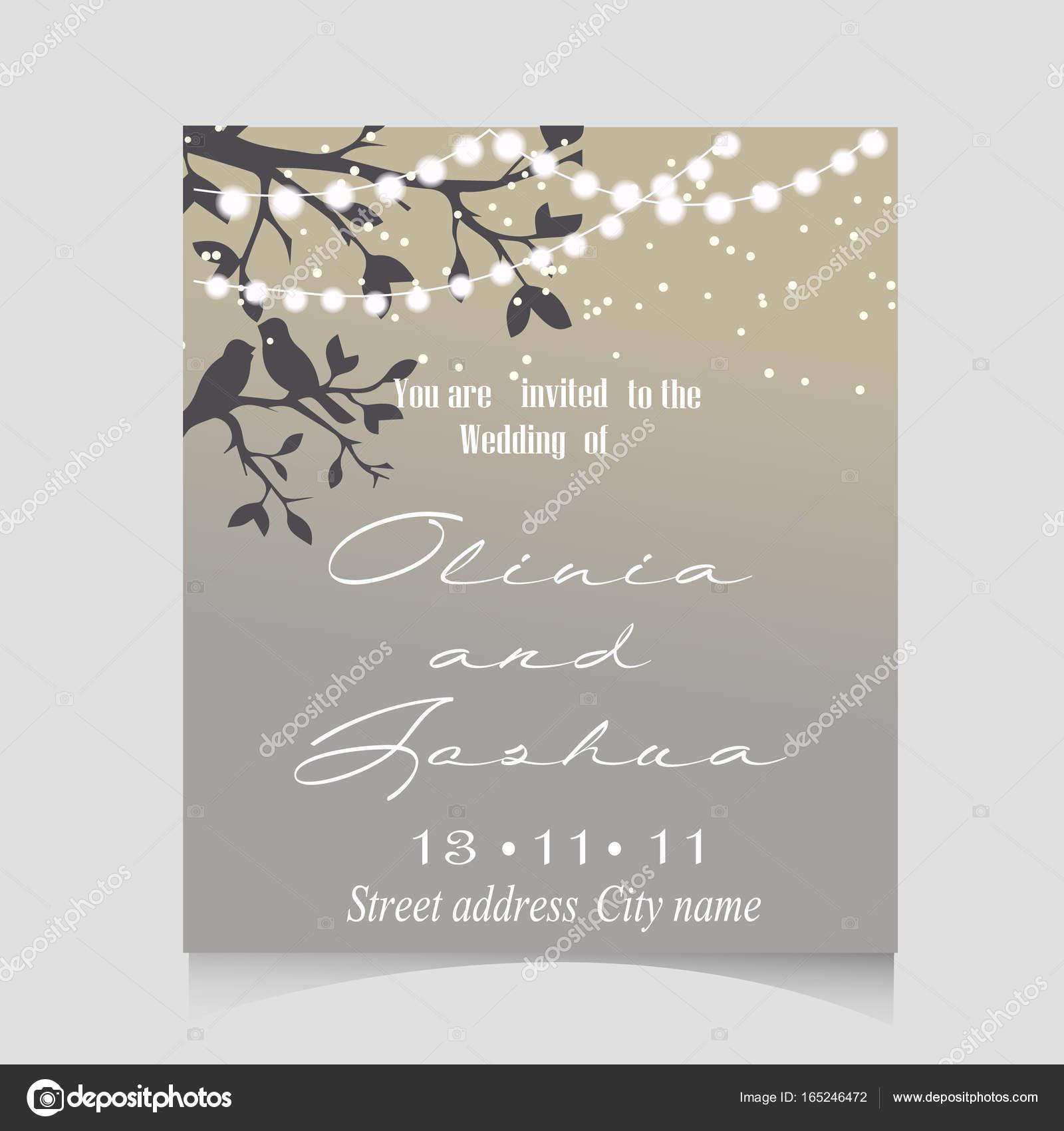 WEDDING INVITATION TEMPLATE DESIGN. — Stock Vector © annamaglyak ...