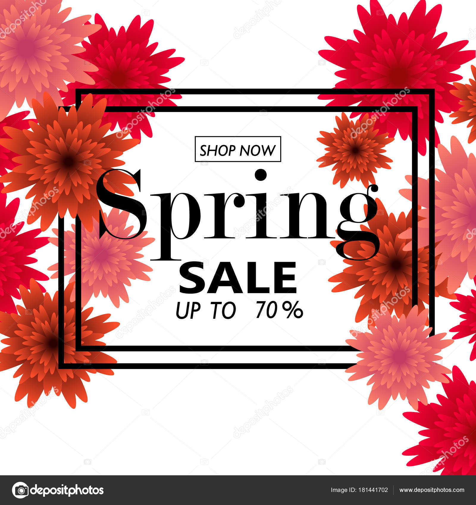 Spring sale banner with paper flowers for online shopping spring sale banner with paper flowers for online shopping advertising actions magazines and websites mightylinksfo