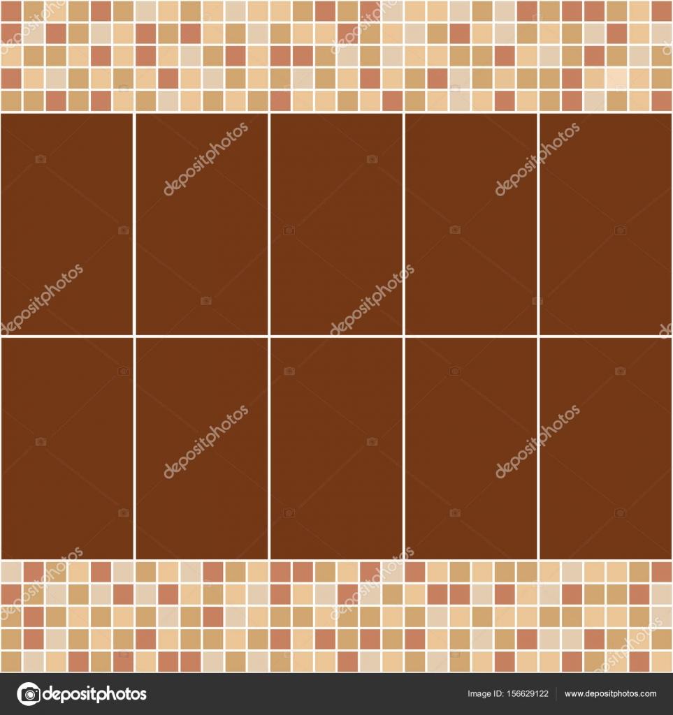 Braun Und Beige Fliesen Mosaik. Vektor Musterdesign. Design Für Abdeckung,  Textil, Pool, Küche, Bad U2014 Vektor Von SixMileWater
