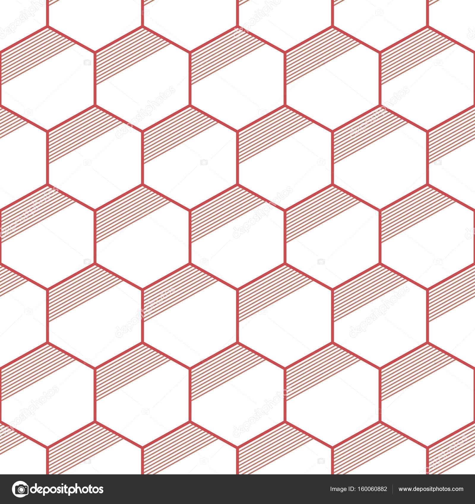 Sin costura patrones abstractos geométricos de hexágonos de color ...