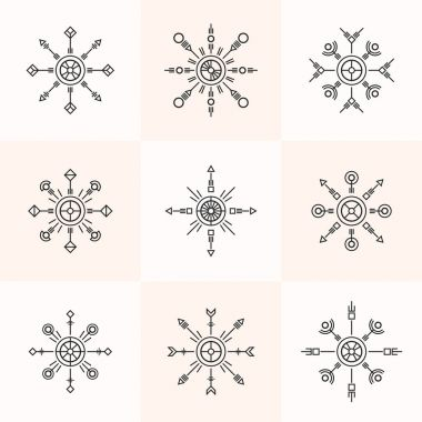 Abstract geometry symbols set.
