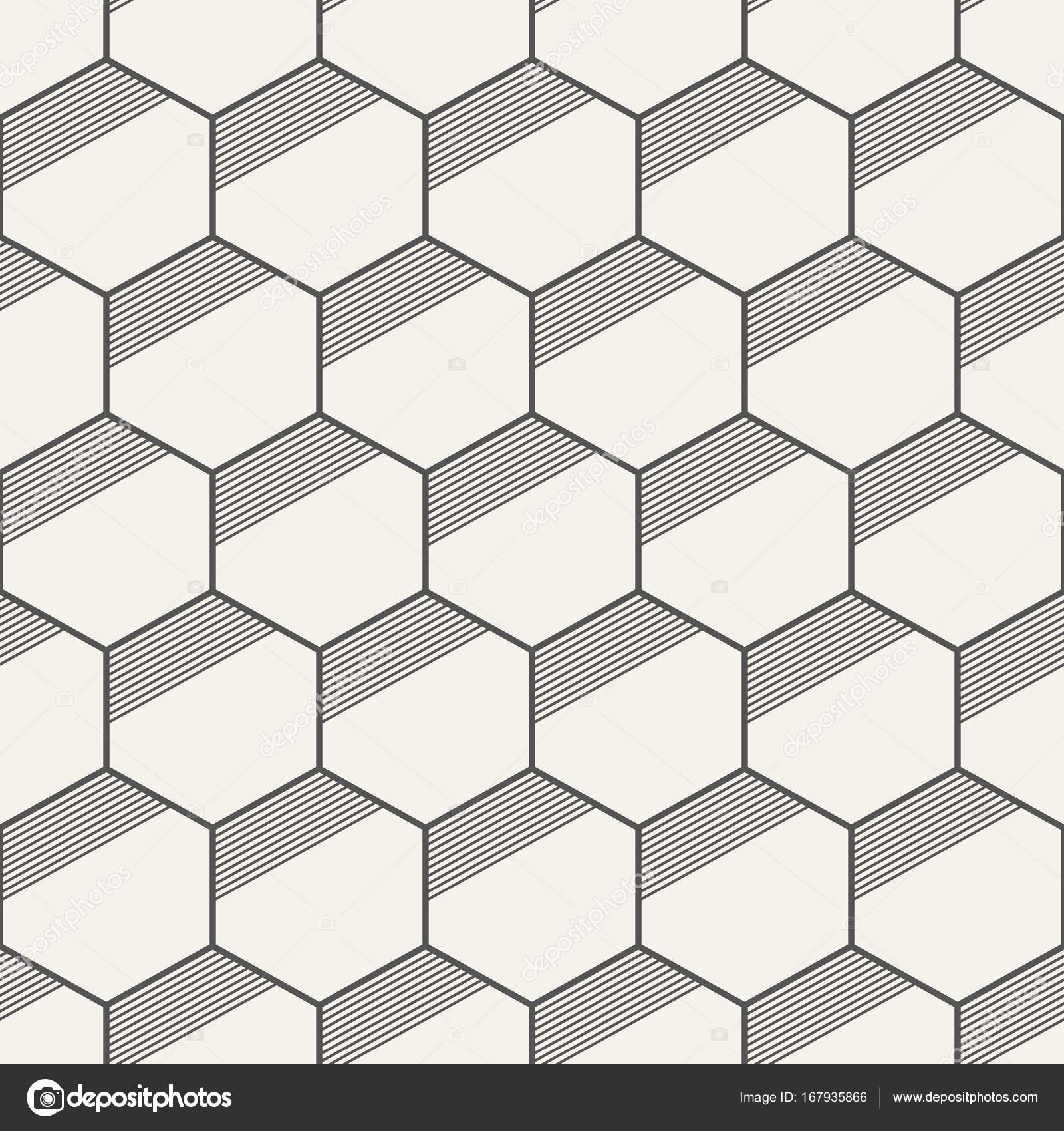 Sin costura patrones abstractos geométricos de hexágonos — Vector de ...