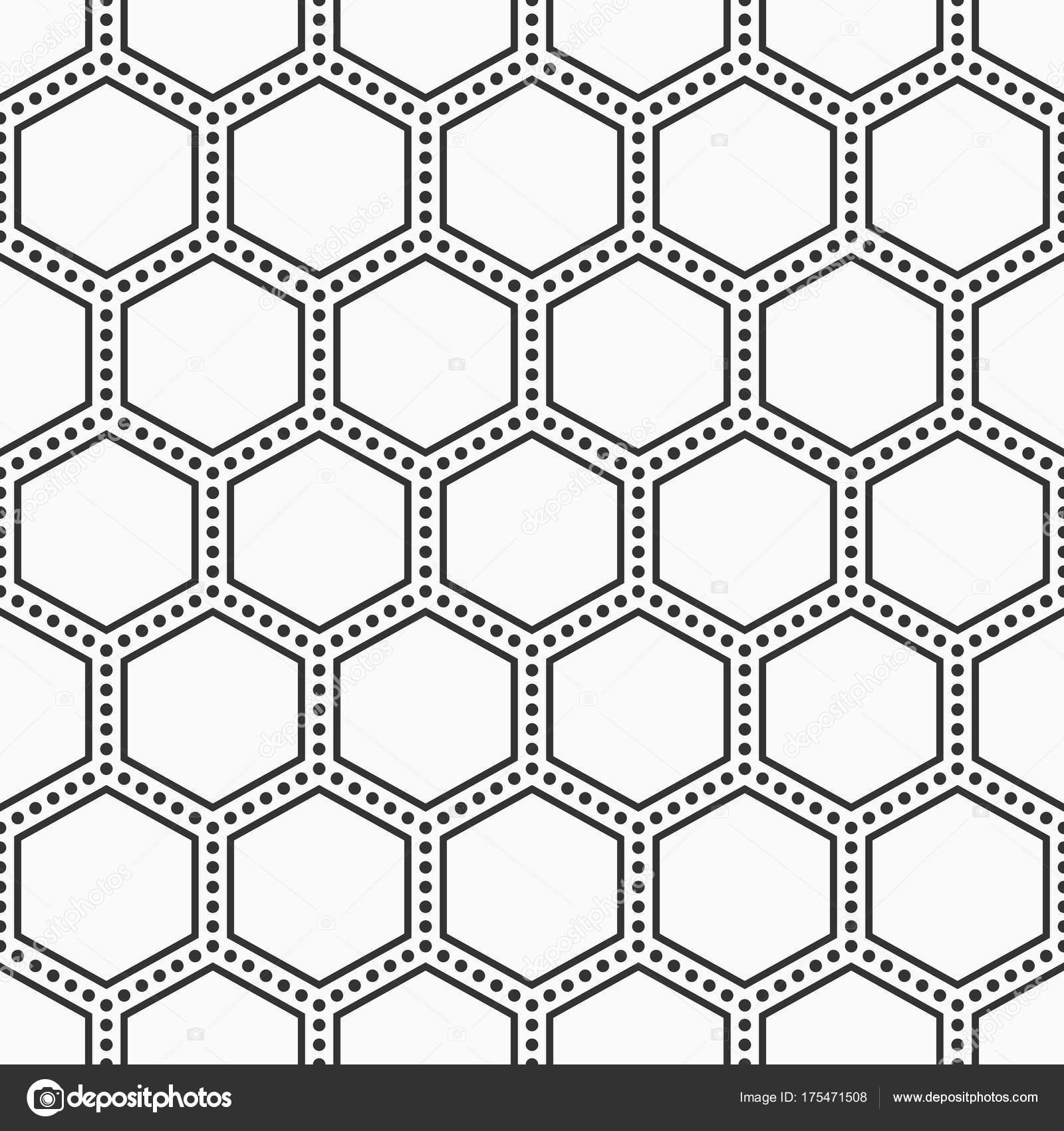 Resumen de patrones sin fisuras de hexágonos — Archivo Imágenes ...