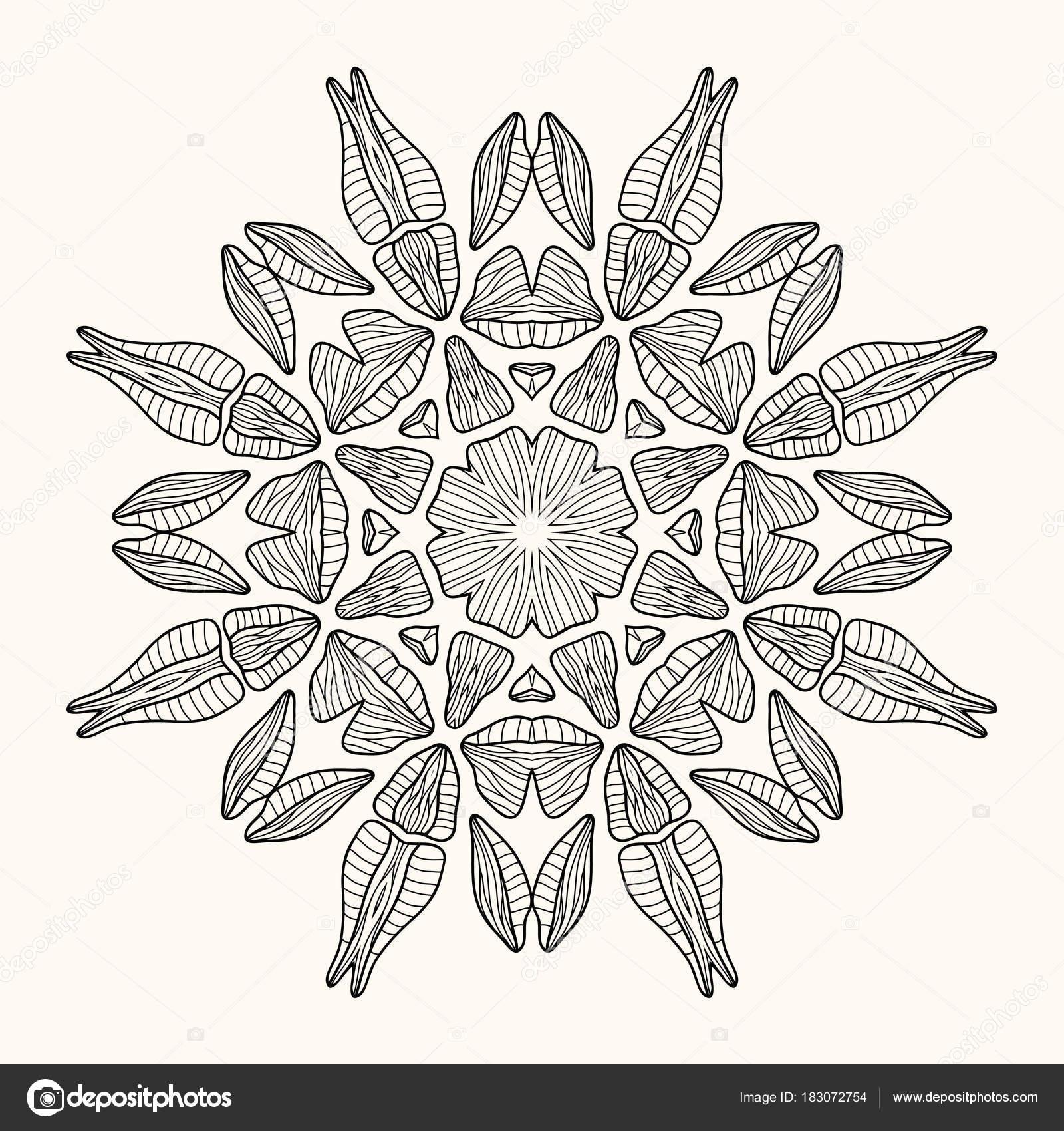 Dekorative Mandala. Vektor-illustration — Stockvektor © SixMileWater ...