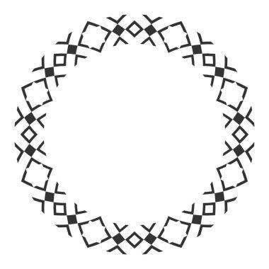 Elegant frame with ornate borders, ethnic ornament.