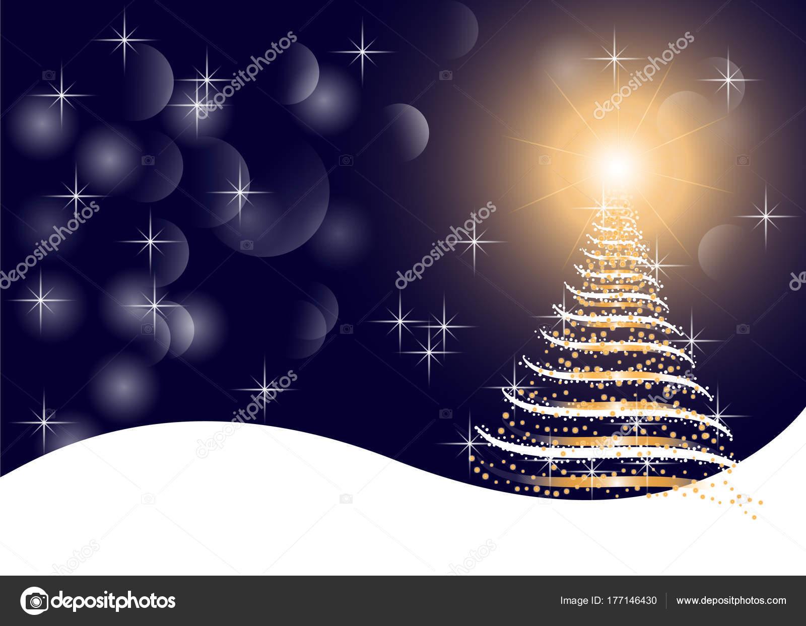 Kunst Grafik weißen, goldenen und blauen Farben Weihnachten ...