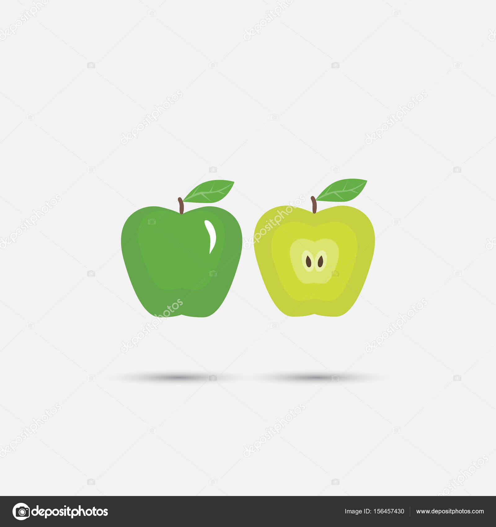 Hermoso color manzana — Vector de stock © serega85art #156457430