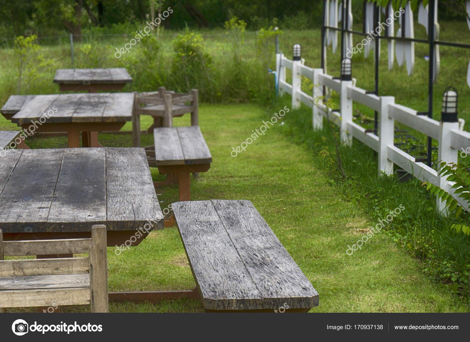 Fesselnde Sitzplatz Garten Ideen Von Im — Stockfoto