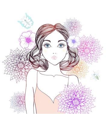 Beautiful fashion woman