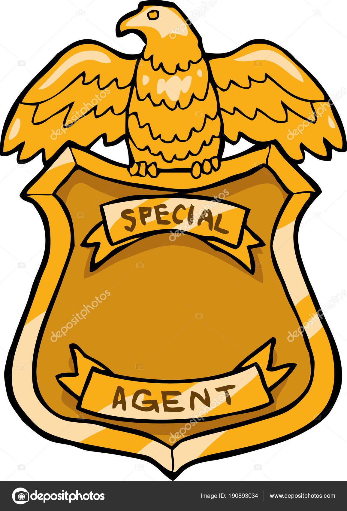 Placa Policial Para Colorear Placa De Agente Especial