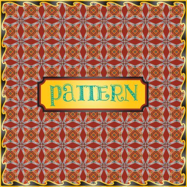 Amazing repeatable colorful pattern