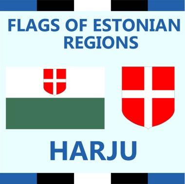 Flag of Estonian region Harju