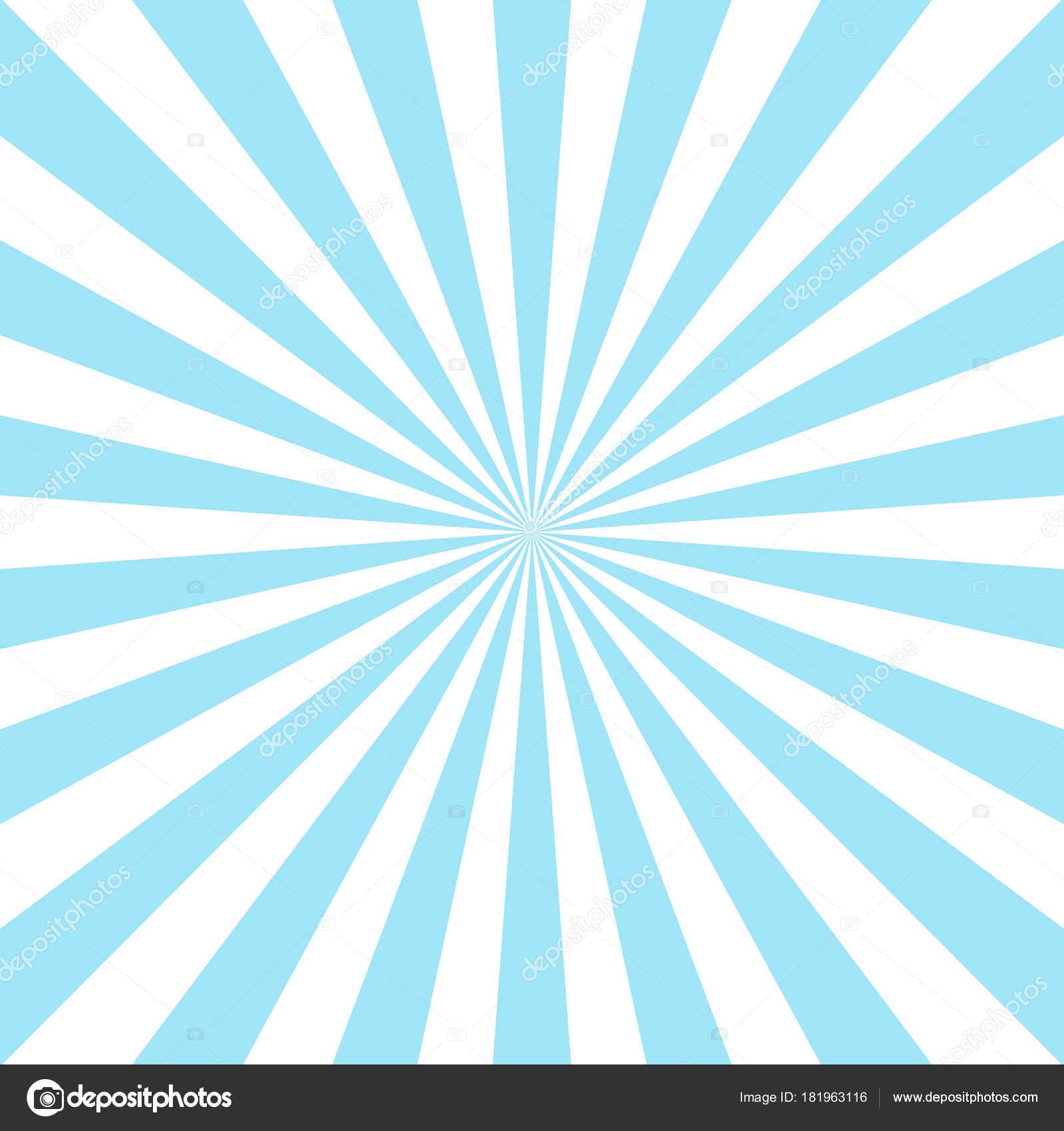 Sunlight Abstract Background Powder Blue And White Color Burst Vector Illustration Sun Beam Ray Sunburst Pattern