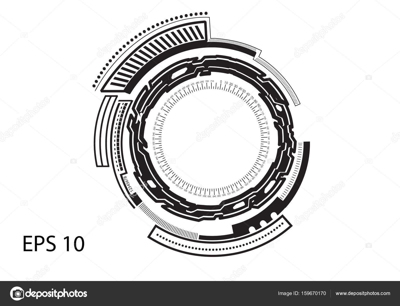 Beyaz Arka Plan üzerinde Yuvarlak Logosu Stok Vektör