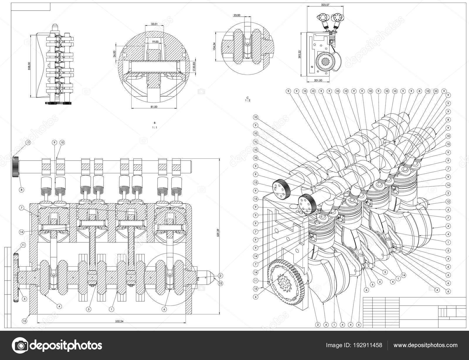 Disegno di costruzione di macchine motore auto su un for Costruzione di un pollaio su ruote