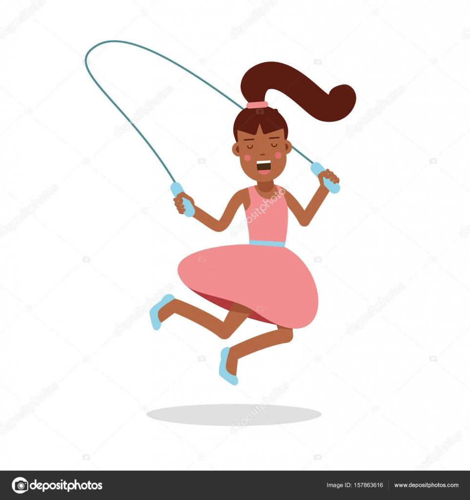 Niña feliz con un vestido rosa el personaje de dibujos