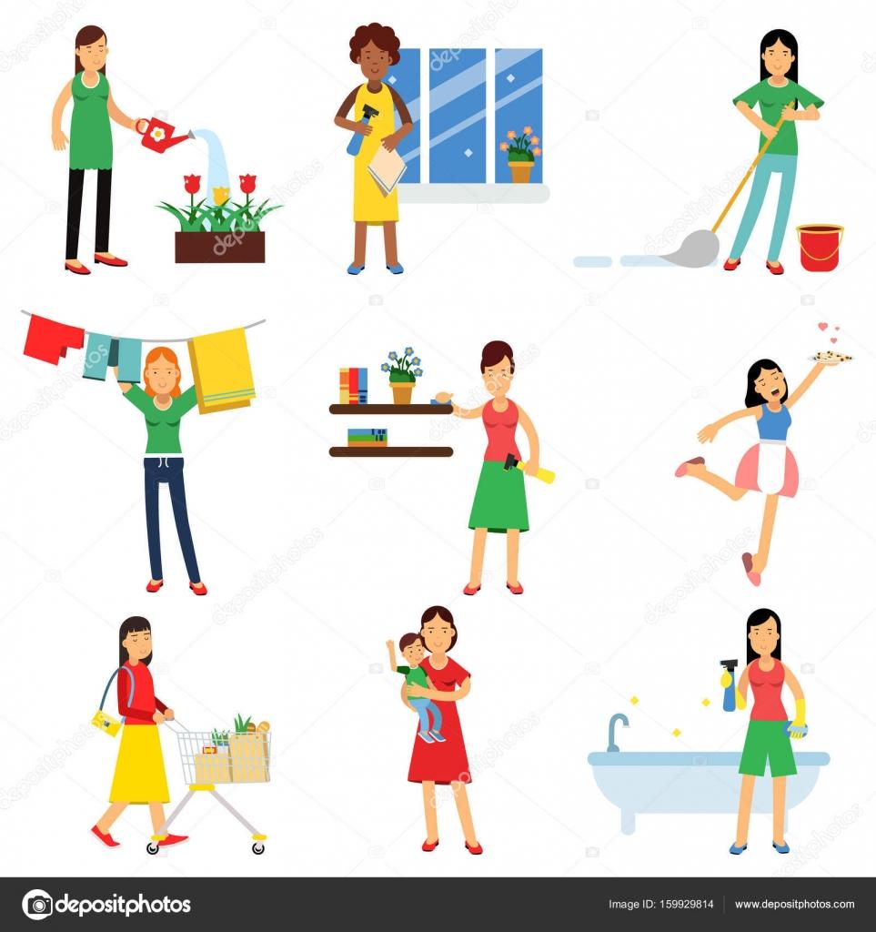 Impostare casalinga moderna nell 39 attivit di lavori for Piani domestici contempory