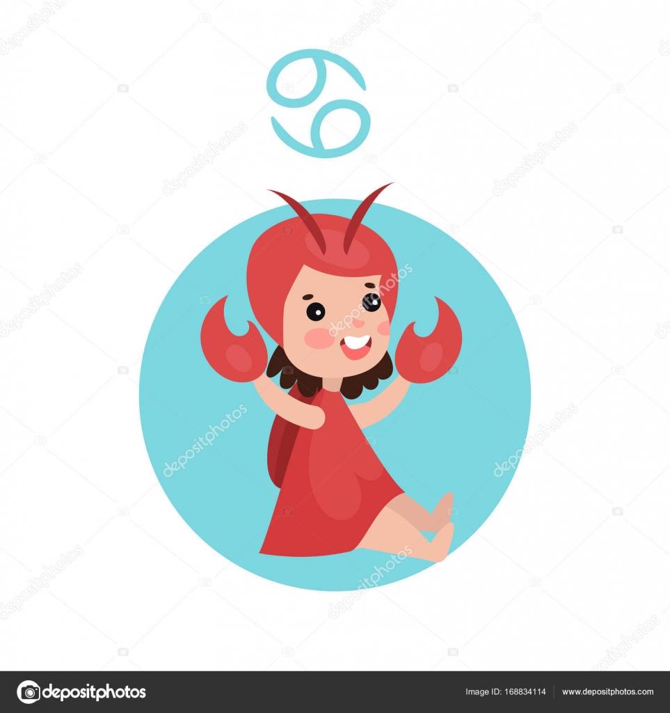 Niedliche kleine Mädchen als Sternzeichen Krebs, Horoskop ...