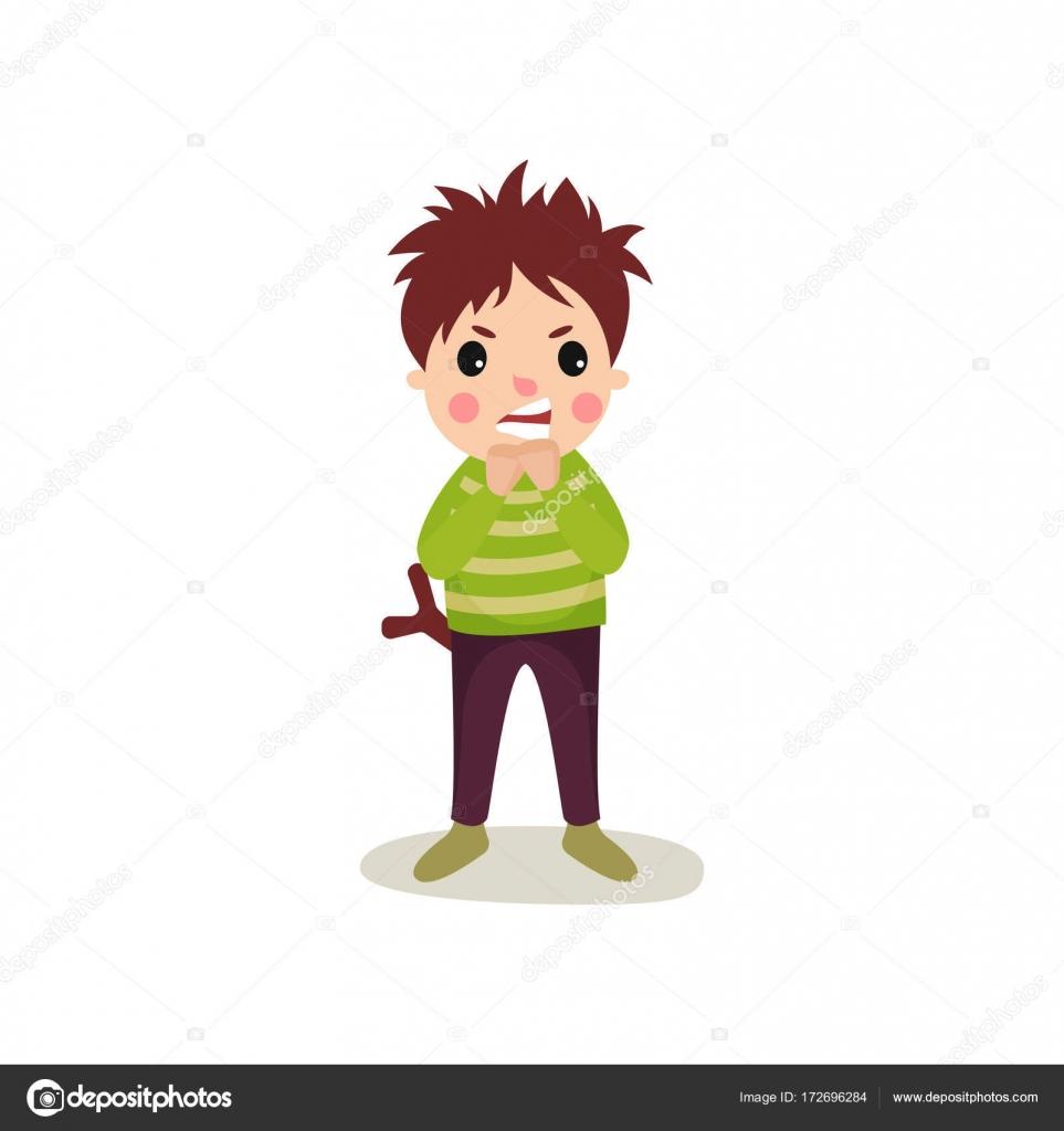 Dibujos Caras De Niños Enfadados Niño Con Cara Enfadada