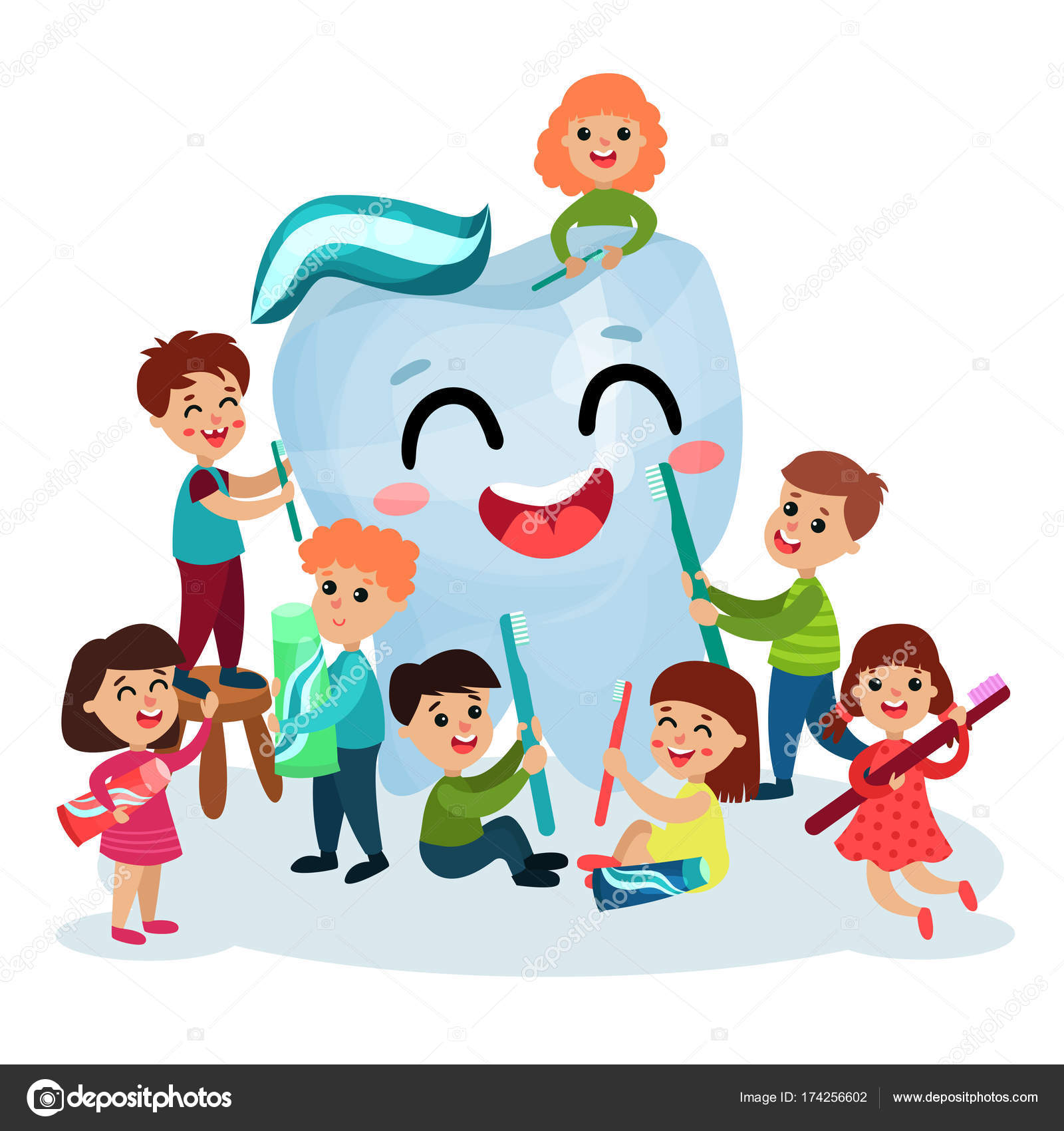 Concepto de salud bucal para ninos