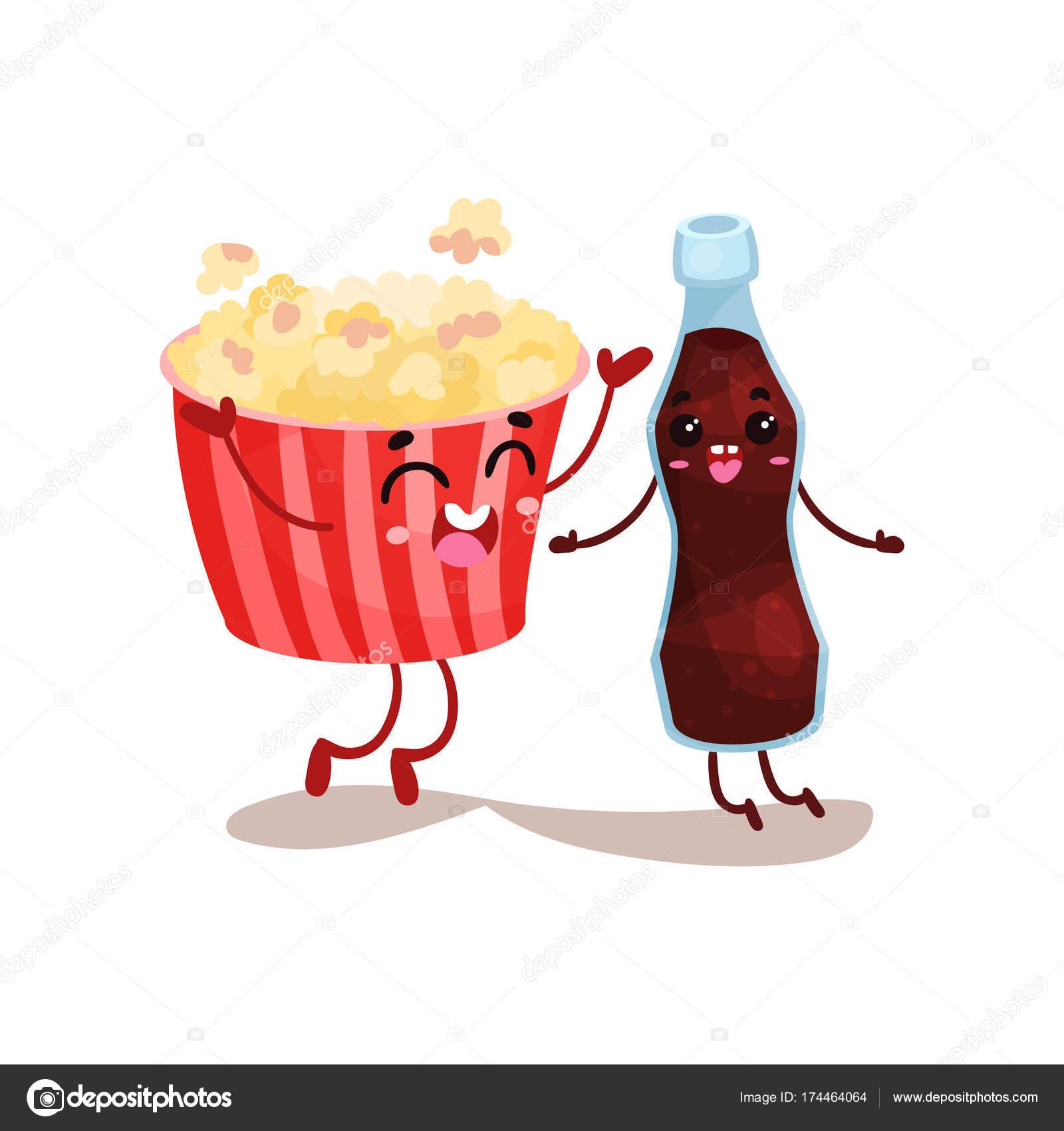 Pelicula De Comida Caricatura Linda Película Palomitas Y Soda Son