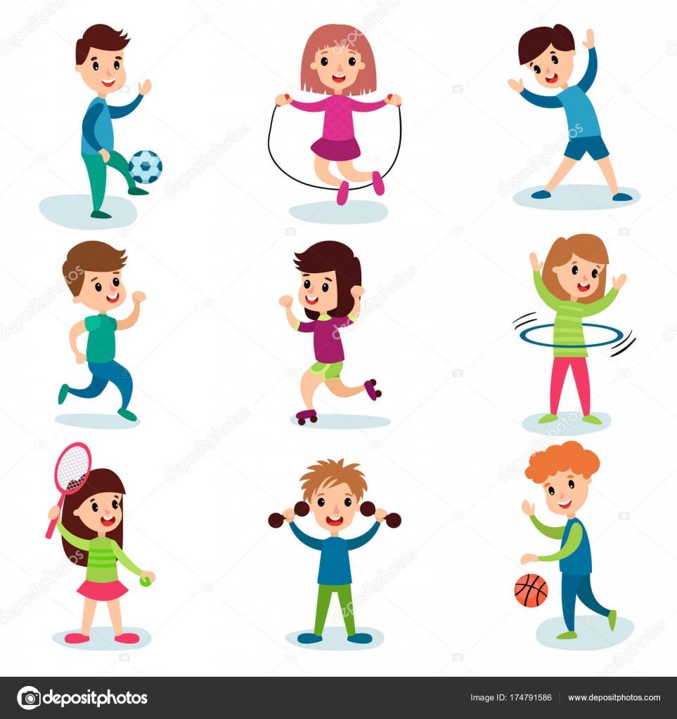Imágenes Niños Realizando Educacion Fisica Sonriendo Los