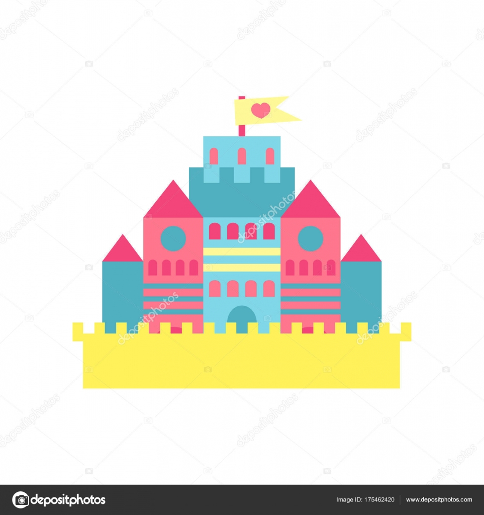 Vecteur De Dessin Anime De Chateau Princesse Colore Illustration