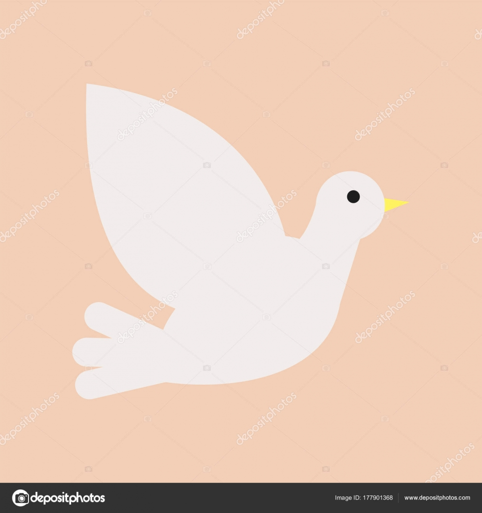 Christian white dove symbol of holy spirit and peace isolated christian white dove symbol of holy spirit and peace graphic design element for church christian organization or event icon in flat style biocorpaavc