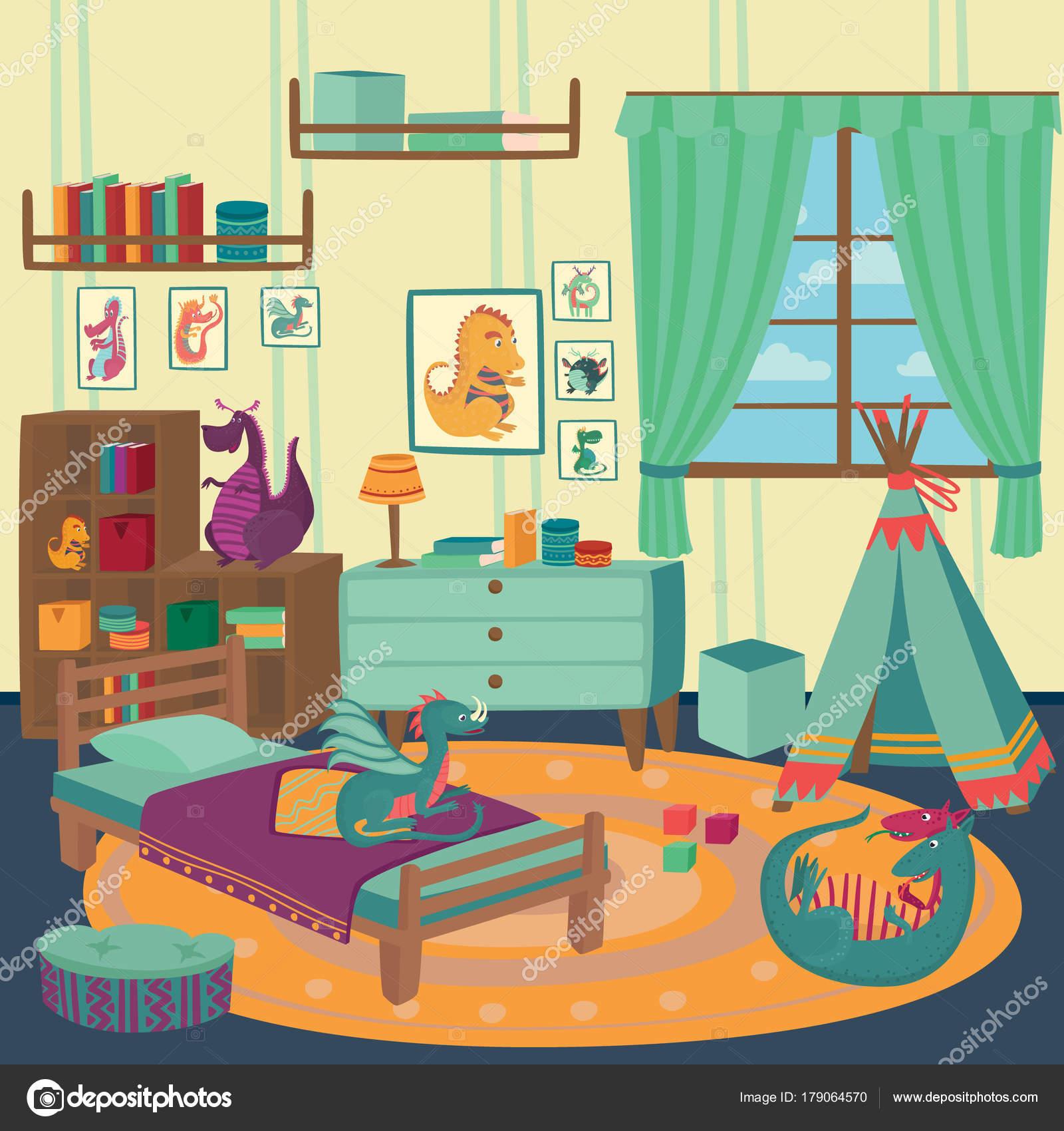 Jugar Habitacion Para Chico Con Los Juguetes Del Drag N Acogedor  # Muebles Juguetes Ninos