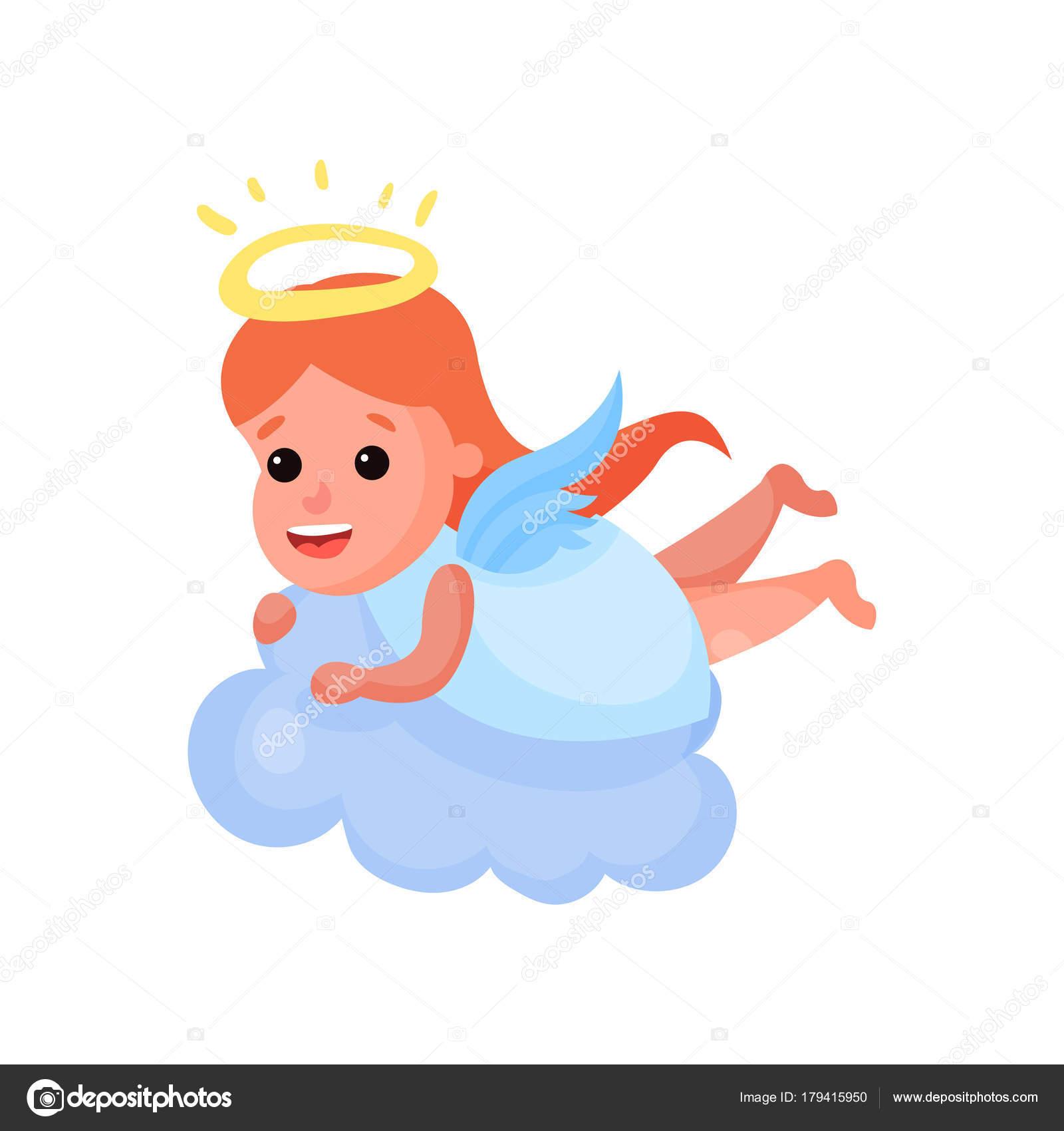 Dibujos Angelitos Bebes Pelirroja Hermosa Angelito Jugando En Una