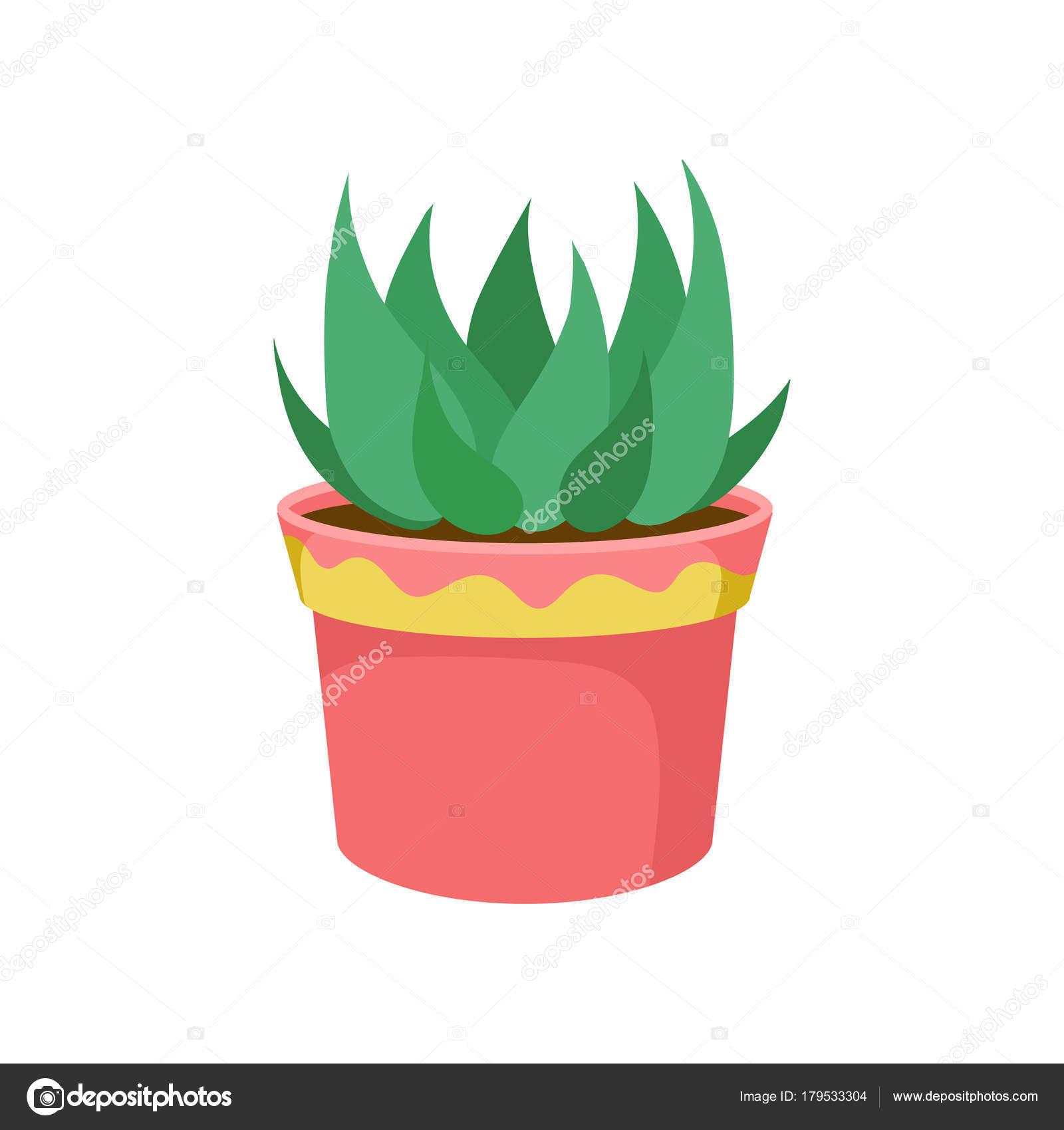 Plante Verte De Maison Dans Un Vecteur De Dessin Animé De