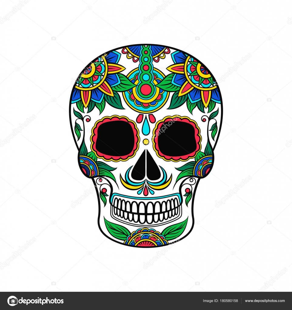 Dibujos Calaveras De Colores Calavera De Azúcar Mexicana Con