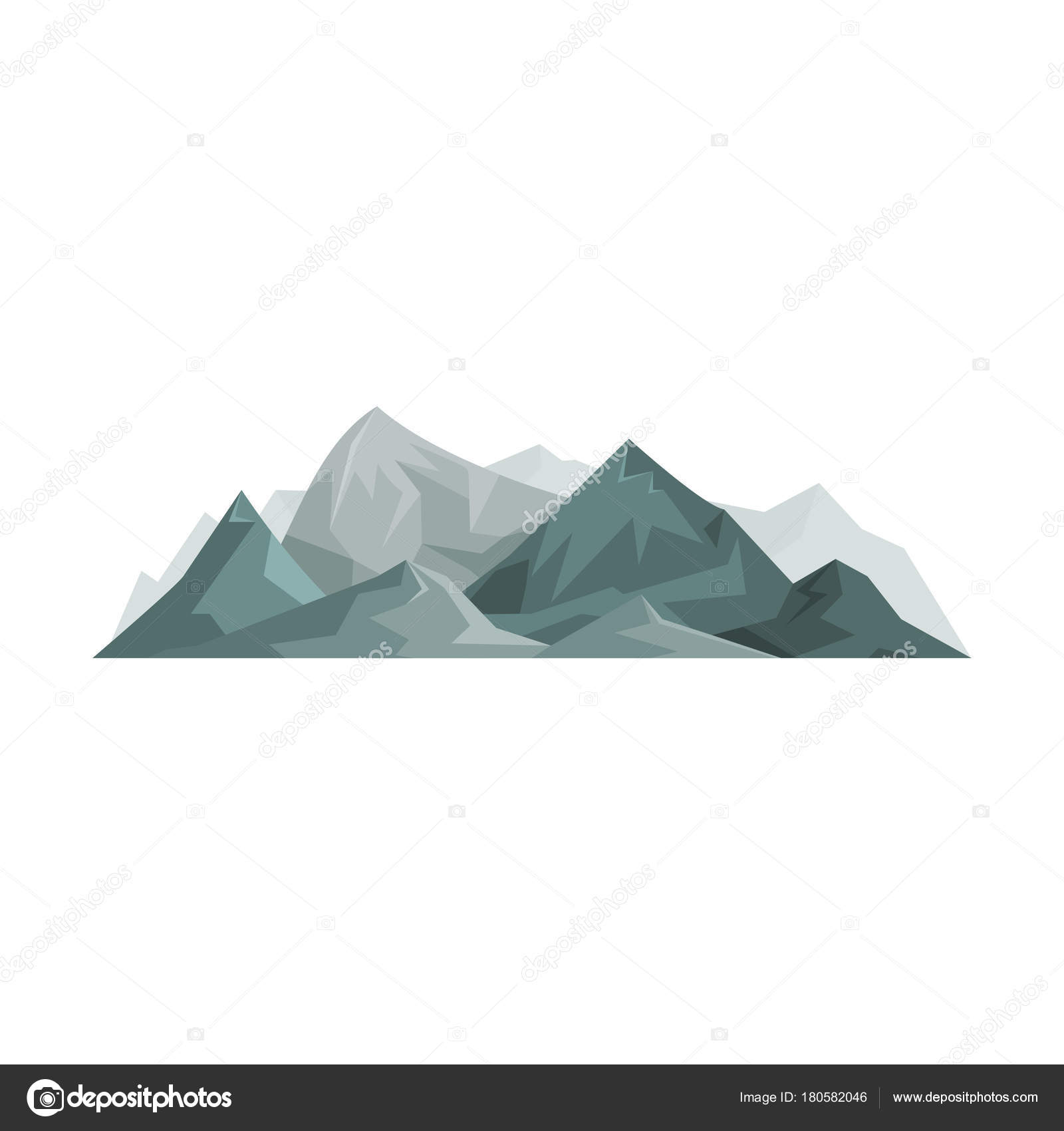 Resumen montañas, elemento de diseño al aire libre, naturaleza ...