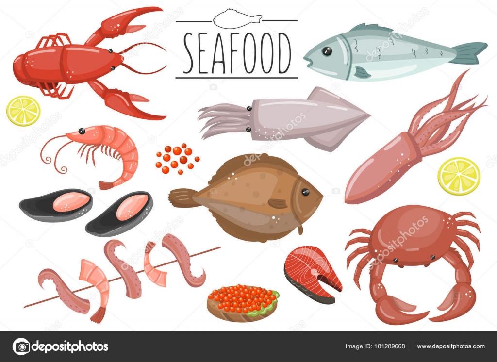 Imágenes: Mariscos Y Pescados Animados
