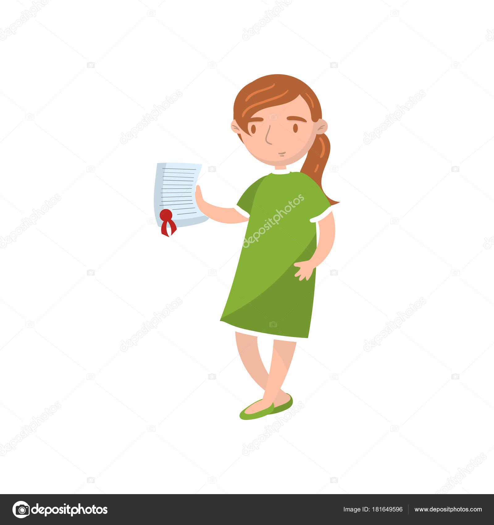 document papier de jeune femme montrant vecteur de dessin anim d assurance voiture. Black Bedroom Furniture Sets. Home Design Ideas