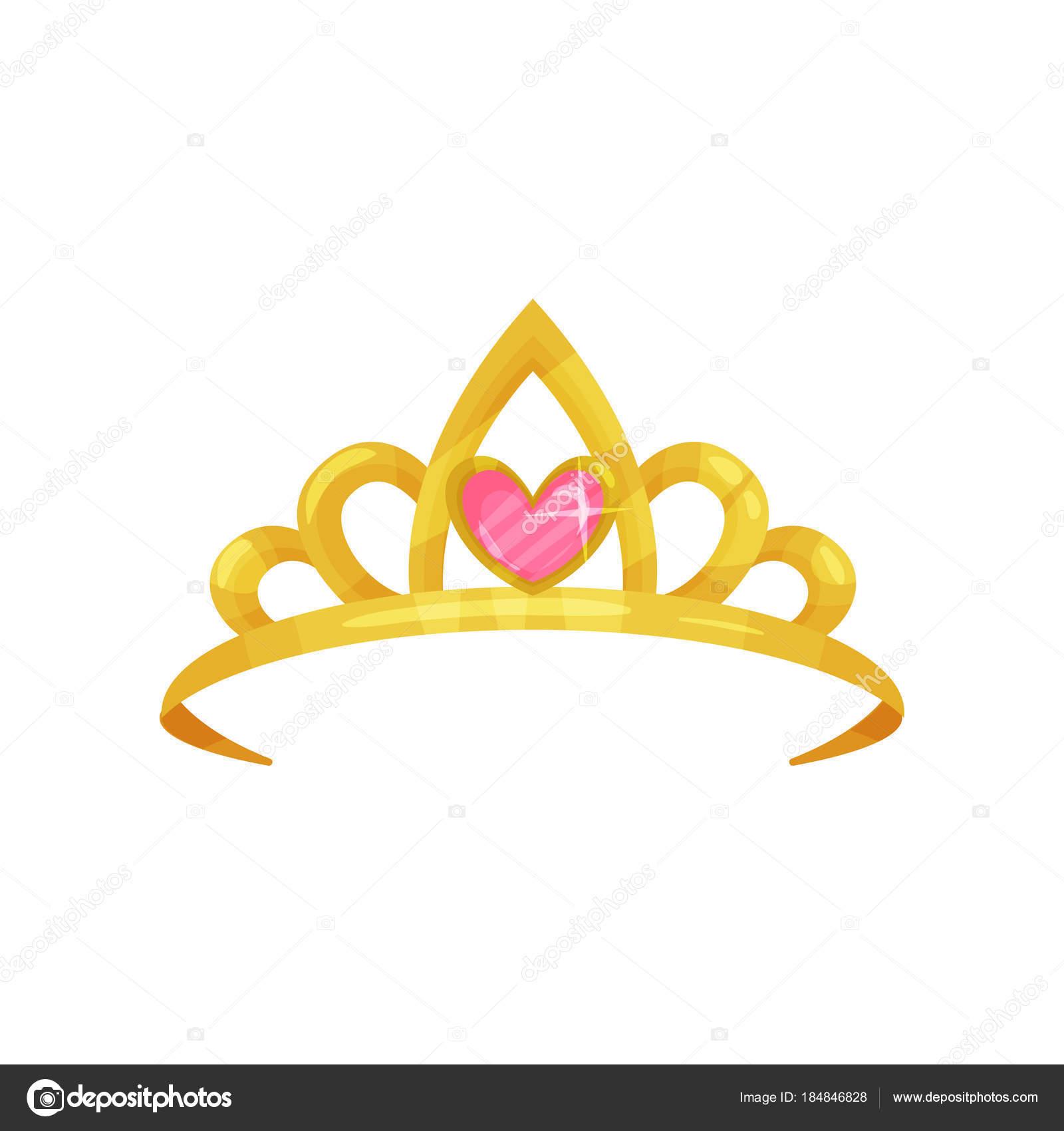 Dibujos Corona Princesas Icono De Dibujos Animados De Corona De