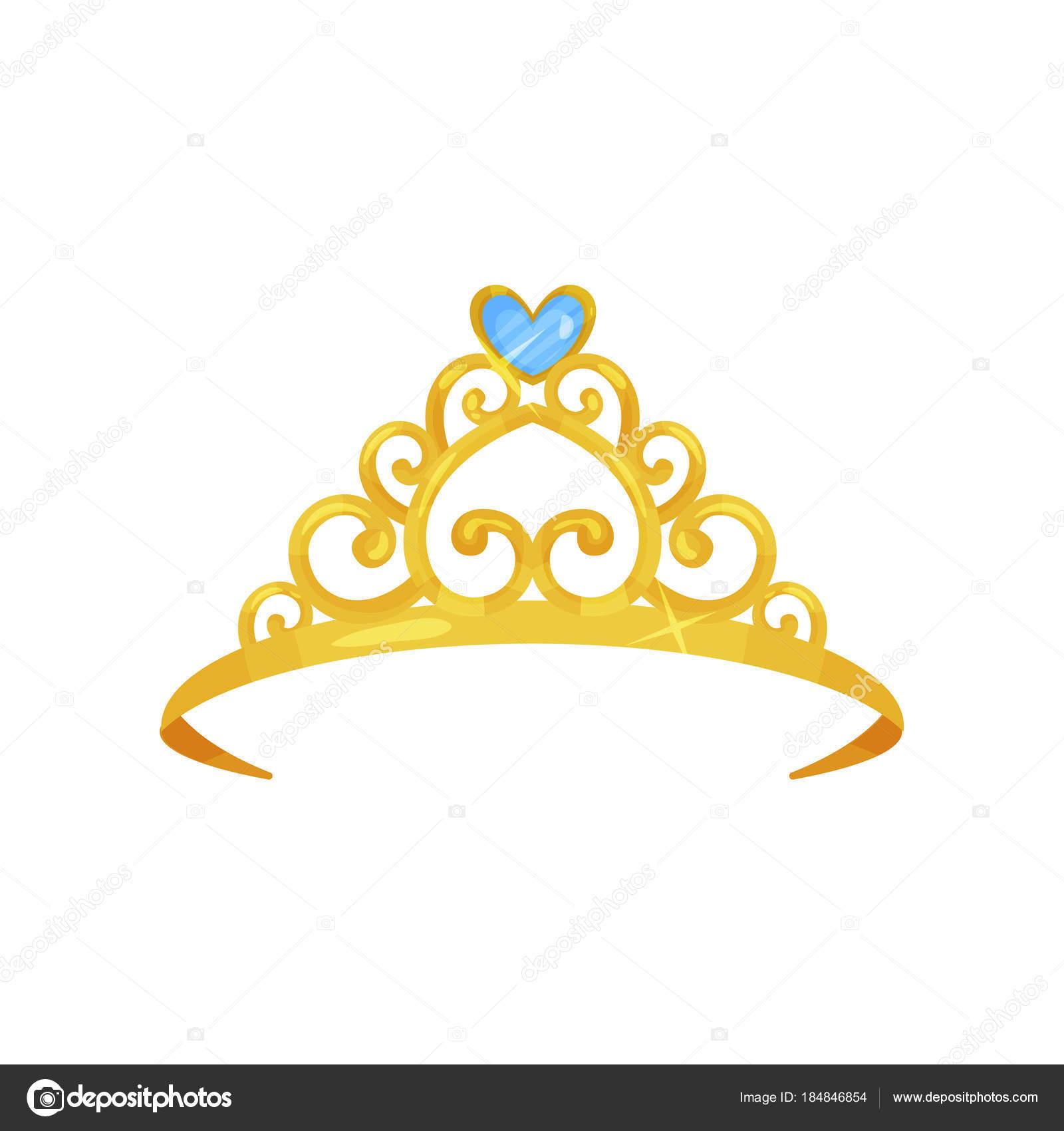 Dibujos Coronas De Reina Colorida Ilustración De Oro Corona De La