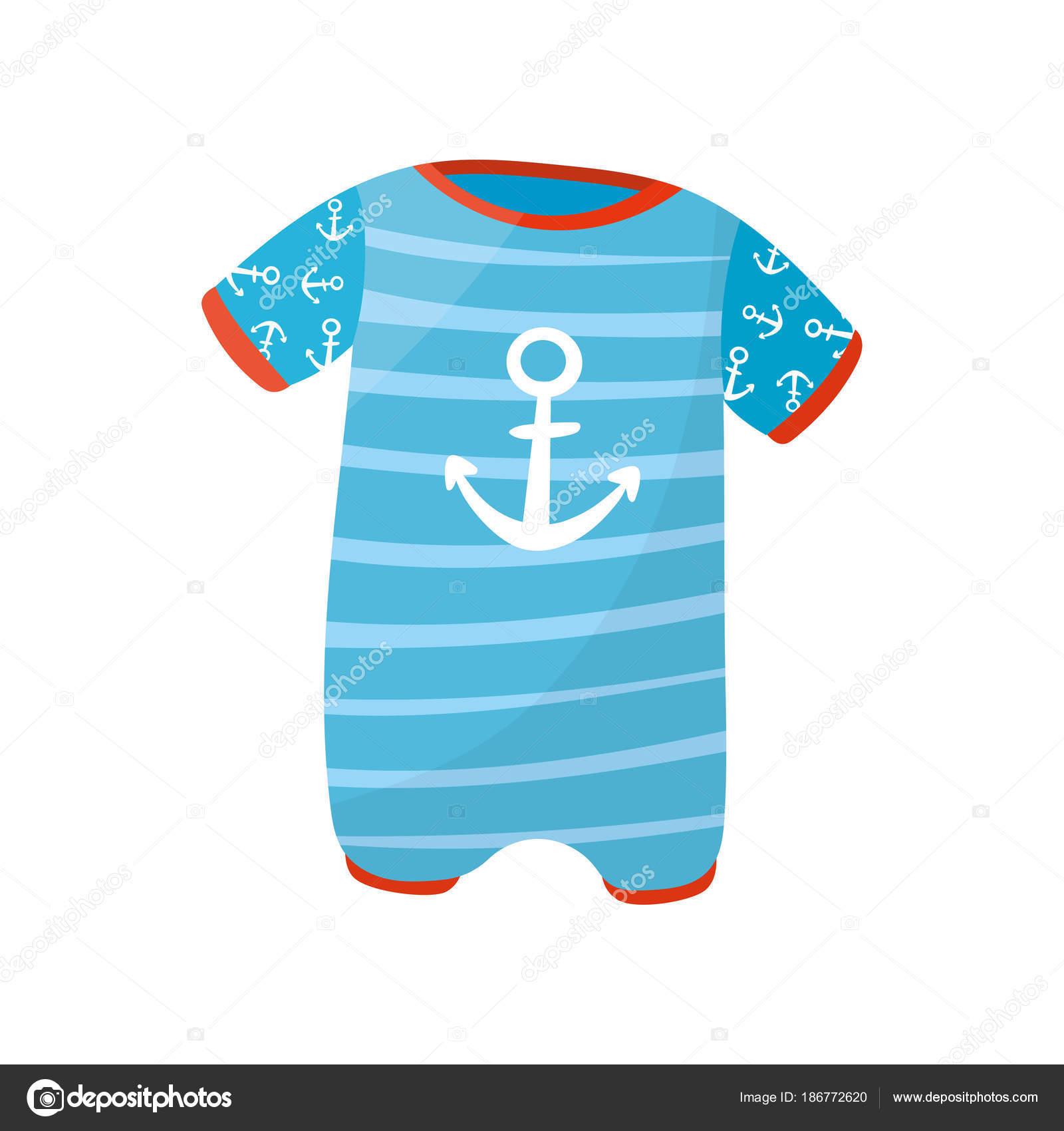 f352e4f19 Lindo niño Pañalero manga corta y impresión. Mono rayas azul para niño recién  nacido.
