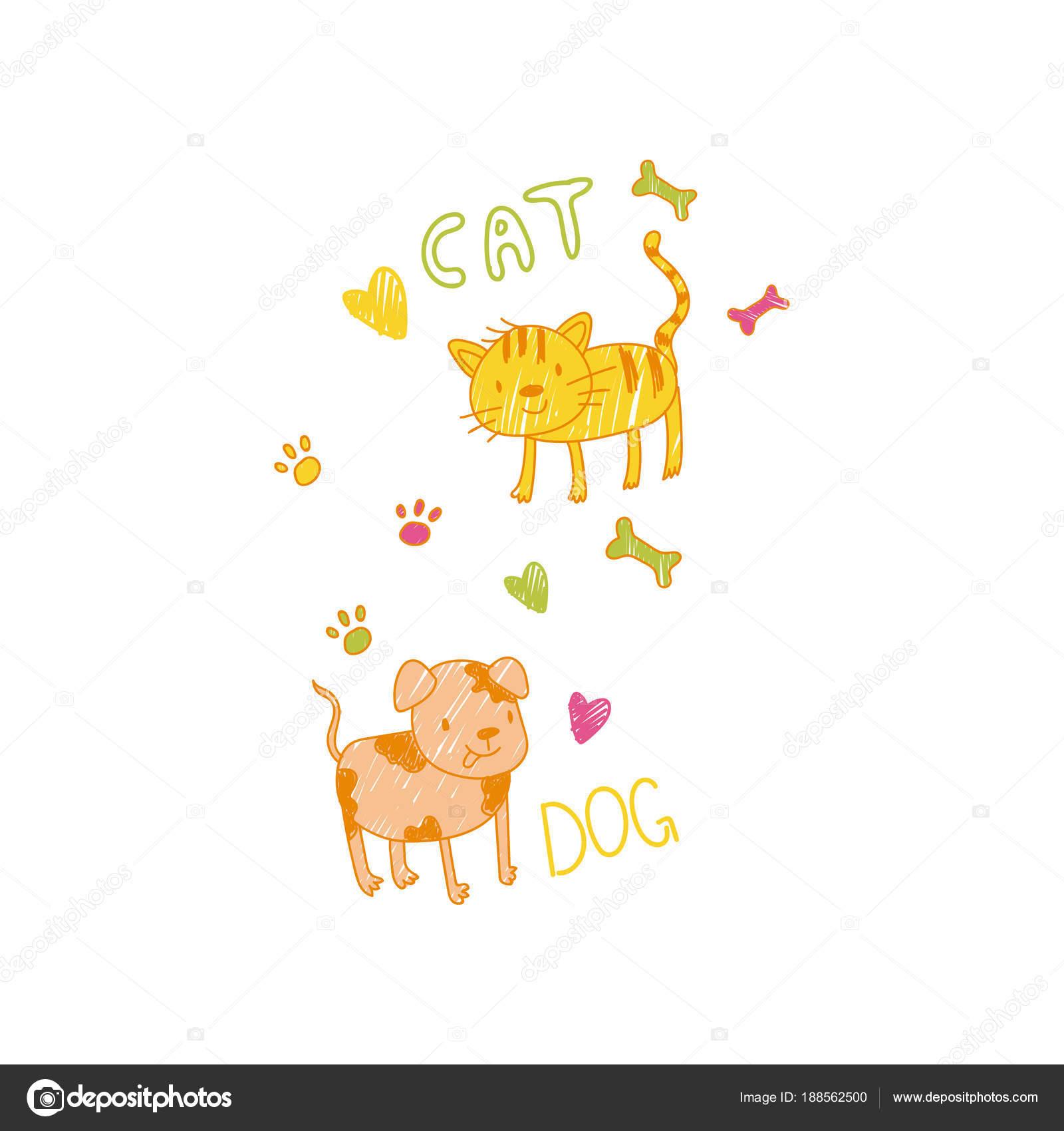 Laminas De Perros Y Gatos Infantil De Dibujo De Gato Y